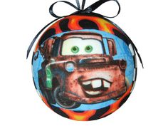 CARS Mater and Sheriff Quilted Handmade Kimekomi Childrens Christmas Ornament Boys Tree Decoration Holiday Disney Ornament by CraftCrazy4U by craftcrazy4u on Etsy https://www.etsy.com/listing/150279782/cars-mater-and-sheriff-quilted-handmade