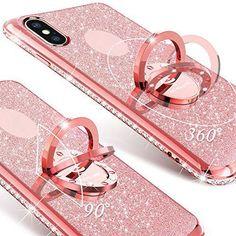 127bd3cce5c72 Amazon.com  2 in 1 Glitter Phone Case (Black) + Screen Protector