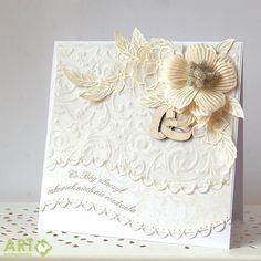 What God has joined together, let no one separate - wedding card in white - Scrapbook.com
