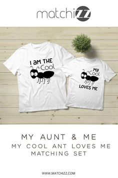 Aunt-Nephew Matching Shirts Ant Pun Shirt Auntie Gifts Cool Aunt Baby Clothes Outfits - Pun Shirts - Ideas of Pun Shirts - Aunt-Nephew Matching Shirts Ant Pun Shirt Auntie Gifts Cool Aunt Baby Clothes Outfits Aunt And Niece Shirts, Nephew And Aunt, Pun Shirts, Kids Shirts, Boy Best Friend Gifts, Aunt Baby Clothes, Funny Pajamas, Mrs Shirt, Auntie Gifts
