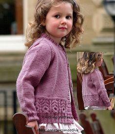 Knitting pattern Girls lovely Cardigan DK 3 yrs to 12 years - Tricot 02 Kids Knitting Patterns, Knitting For Kids, Baby Knitting Patterns, Free Knitting, Knitting Needles, Knit Baby Sweaters, Toddler Sweater, Baby Cardigan Knitting Pattern, Pulls