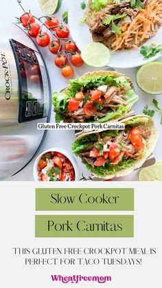 Pork Recipes, Mexican Food Recipes, Crockpot Recipes, Dinner Recipes, Ethnic Recipes, Crock Pot Tacos, Crock Pot Slow Cooker, Gluten Free Recipes, Low Carb Recipes
