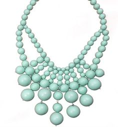 Large Acrylic Bead Mint Bib Necklace by What's In My Dresser, http://www.amazon.com/dp/B007PLSURW/ref=cm_sw_r_pi_dp_txqCrb1H6ESKK
