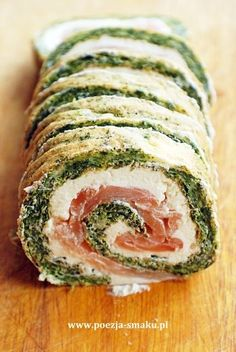 Roladki szpinakowe z łososiem (Spinach Rolls with Salmon - recipe in Polish)