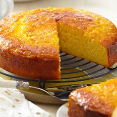Orange Almond Syrup Cake - A classic orange cake that stays wonderfully moist. Orange Syrup Cake, Orange And Almond Cake, Moist Orange Cake Recipe, Lemon Syrup Cake, Orange Cakes, Orange Zest, Orange Recipes, Almond Recipes, Baking Recipes
