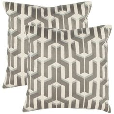 $60 Shop for Safavieh Pieces 18-inch White/ Silver Decorative Pillows (Set of 2). Get free shipping at Overstock.com - Your Online Home Decor Outlet Store! Get 5% in rewards with Club O!
