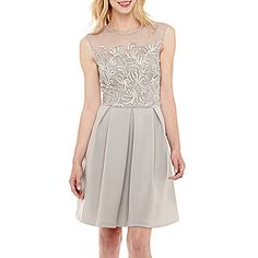 jcp   Studio 1® Sleeveless Fit-and-Flare Dress