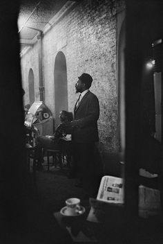 "air-and-angels: "" Thelonious Monk Takes 5 at the Blue Angel, 1963 ~ Don Hunstein "" Jazz Artists, Jazz Musicians, Piano, Thelonious Monk, Cool Jazz, All That Jazz, Jazz Blues, Time Magazine, Music Photo"
