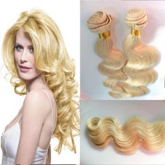 Hot Queen Hair Human Unprocessed Remy Hair Weaves #613 Blonde 6A Brazilian Virgin Hair Body Wave 2 Bundles/Lot Free Shipping