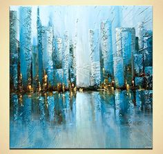 Hey, I found this really awesome Etsy listing at https://www.etsy.com/listing/531260032/textured-painting-on-canvas-teal-blue