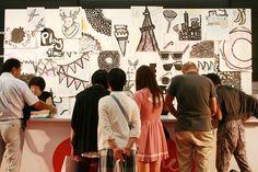 Masami Shinkawa's work at the entrance of #PlaytimeTokyo #kids #fashion