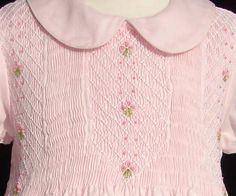 Elegant baby girls pink smocked dress with peter by CarouselWear