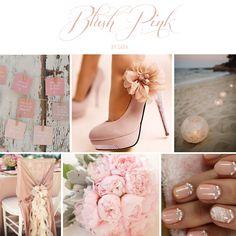 Blush pink wedding inspiration board