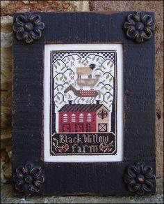 "Carriage House Samplings ""Black Willow Farm"" chart"