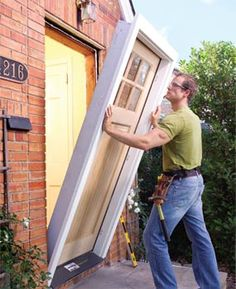 This article lays out the explanation of how to install an interior door.  Great details and diagrams.