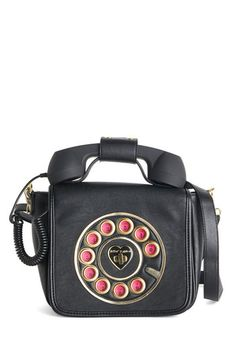 Betsey Johnson That's What I Call Style Bag. You give a new meaning to accessorizing with rings when you model this vegan faux-leather purse by Betsey Johnson! #black #modcloth