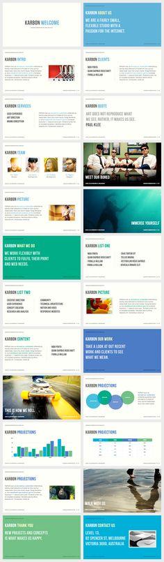 Karbon - Keynote Presentation Template - PowerPoint & Keynote - Creattica
