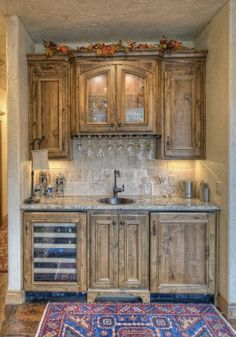 Rustic Cottage...I agree that a well-designed Bar area is a must in a home!