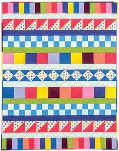 Zippy Quilt baby quilt by Jean Van Bockel