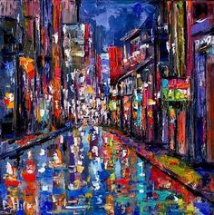 """""""Cityscape"""" - a painting of a New Orleans street scene by Debra Hurd"""