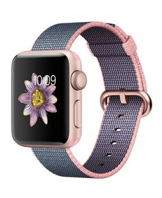 Shop Apple Watch Series 2 Rose Gold Aluminum Case Light Pink/Midnight Blue Woven Nylon Band Rose Gold Aluminum at Best Buy. Find low everyday prices and buy online for delivery or in-store pick-up. Apple Watch Online, Buy Apple Watch, Rose Gold Apple Watch, Apple Watch Series 2, Apple Watch Bands, Iphone Watch, Apple Watch Accessories, Rose Gold Watches, Apple Tv
