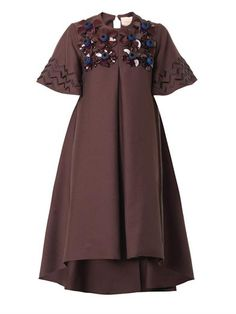 Hartley 3D floral-embellished dress | Roksanda | MATCHESFASHIO...
