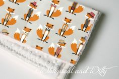 Foxy Baby Blanket - Orange and Gray Fox Print - Toddler Blanket - Minky Backed by WHIMSICALandWITTY on Etsy https://www.etsy.com/listing/192525761/foxy-baby-blanket-orange-and-gray-fox
