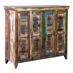Jadu Jelly Cabinet Is Full Of Charming And Rustic Details Worn Away Paint A