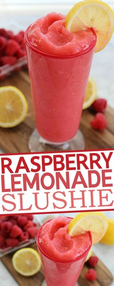 Raspberry Lemonade Slushie Recipe {wineglasswriter.com/}