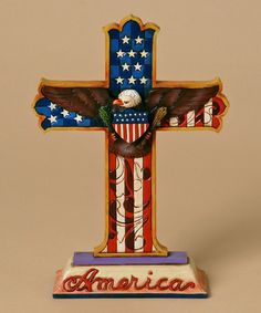 Take a look at this Patriotic Cross Figurine by Jim Shore on #zulily today!