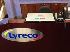 Lyreco Sydney deployed a great flat touchscreen PC as their visitor kiosk. Easy to access, use, and highly visible.