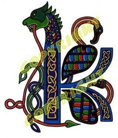 """K"" Celtic Letters Irish Celtic, Celtic Art, Letter K, Initial Letters, Celtic Fonts, Graphic Art, Graphic Design, Beautiful Fonts, Illuminated Letters"