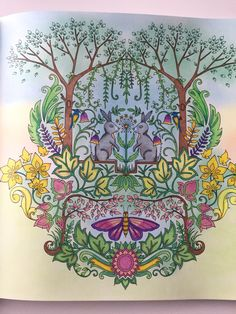 Johanna Basford Coloring Books Colouring Pages Diy Art Christmas Colors Enchanted Folk Forest Maryland Haunted