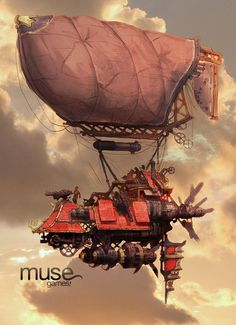 DeviantArt: More Artists Like Steampunk Airship by JohnStaton Steampunk Ship, Arte Steampunk, Steampunk Artwork, Flying Ship, Flying Boat, Dirigible Steampunk, Machine Volante, 3d Art, Retro Futurism