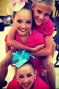 dance moms Maddie Chloe and Paige...the original trio