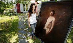 Sturla malt naken med flagget til topps Norway, Henna, Paintings, Artist, Inspiration, Sculpture, Kunst, Biblical Inspiration, Paint