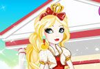 Apple White is the most beautiful princess from Ever After High and she has a huge passion for fashion. She is Snow White's sweet daughter, and she is eager to prepare for a new school day and she needs your help to dress elegant and stylish. Royal gowns have been upgraded to chic street-style dres