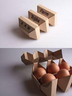 Egg Box Stacker by Ádám Török Egg Packaging, Food Packaging Design, Packaging Design Inspiration, Branding Design, Packaging Ideas, Carton Design, Cardboard Packaging, Box Design, Creations