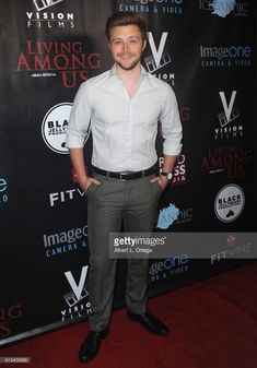 Actor Sterling Knight arrives for the Premiere Of 'Living Among Us' held at Ahrya Fine Arts Theater on February 1, 2018 in Beverly Hills, California.