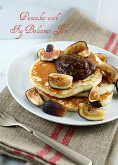 """Authentic Suburban Gourmet: { Pancakes with Fig Balsamic Jam + Food Blogger """"Jamming"""" Party Highlights }"""