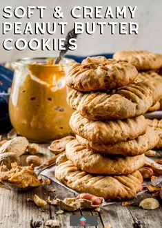 Soft and Creamy Peanut Butter Cookies, decadent cookies with a peanut butter cookie dough and then filled with creamy peanut butter, a perfect cookie for PB fans!
