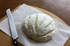 Homemade Bread - 4 ingredients, Mix them with a spoon in one bowl, rise once. Hope it's that easy!