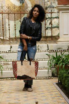Bolso de Kilim y Piel Natural David by Ros   #bags