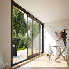 Pvc Windows, House Windows, Windows And Doors, Porches, Accordion Doors, Double Door Design, Hill Country Homes, Sliding Glass Door, Facades