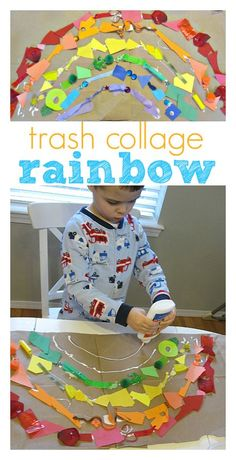 Trash rainbow perfect for St.Patrick's Day and Earth Day !