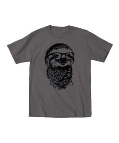 This Charcoal Hipster Sloth Tee - Toddler & Kids by KidTeeZ is perfect! #zulilyfinds