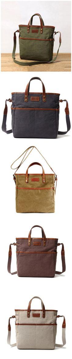 Canvas Tote Bag Vintage Shoulder Bag Simple Style Messenger Bag Source by Bags designer Mochila Jeans, Pink Shoulder Bags, Leather Clutch Bags, Simple Bags, Cotton Bag, Canvas Leather, My Bags, Canvas Tote Bags, Fashion Bags