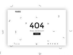 404 Minimal designed by grapestheme. Ui Ux Design, Page Design, Graphic Design, Minimal Website Design, Web Design Websites, 404 Pages, Web Layout, Web Design Inspiration, Creative Design