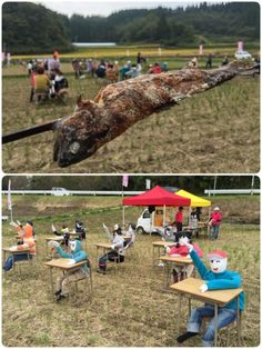 熊本県阿蘇郡高森町草部 かかし祭り  ヤマメの塩焼き