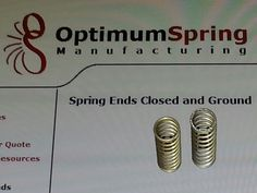 MS24585-C254 Stainless Steel Compression spring with closed and ground ends